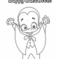 Halloween Little funny vampire coloring page, Halloween