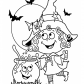 Halloween Little funny witch coloring page, Halloween