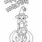 Halloween Little witch coloring page, Halloween