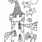 Halloween Tower coloring page, Halloween