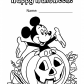 Halloween and Mickey Mouse coloring page, Happy Halloween