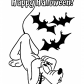 Happy Halloween and Pluto coloring page, Halloween