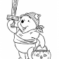 Happy Halloween and Winnie the Pooh coloring page, Halloween