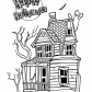 Happy Halloween house coloring page, Halloween