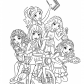 Lego Friends all coloring page Lego Friends