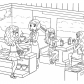 Lego cafe coloring page Lego Friends