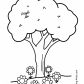 tree with bird coloring page