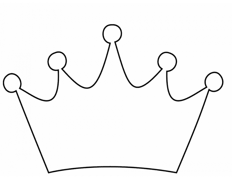 Easy Crown Coloring Pages