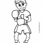 Boxing sport coloring page