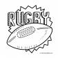 Rugby sport coloring page 2