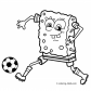 Soccer sport coloring page