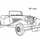 Super car MP Lafer coloring page