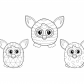 Furby coloring sheet one furby collection