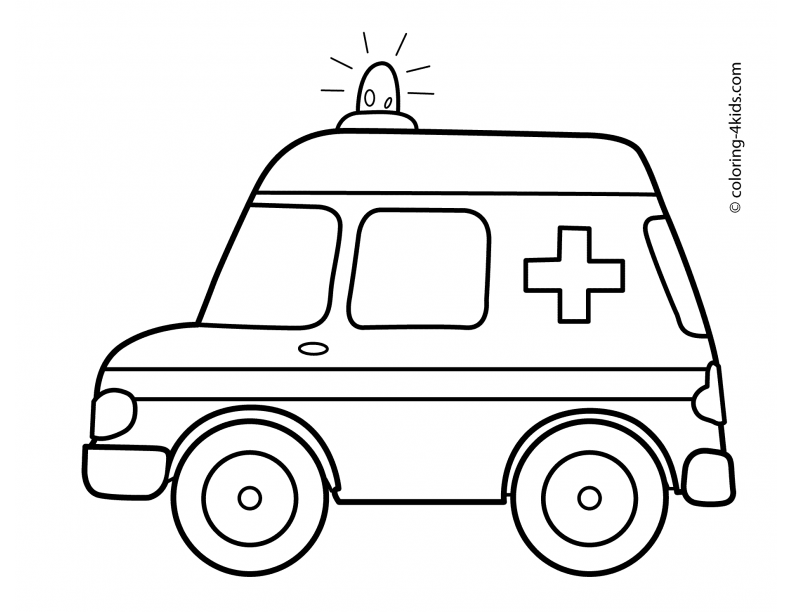 amazing ambulance coloring pages printable with ambulance